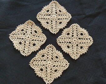 Crocheted Lace Coaster Set