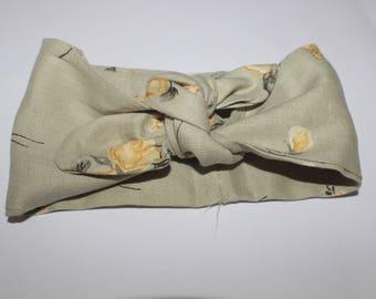 Bandeau pour bébé en tissu coton fleuri