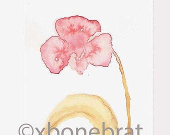 WILD ORCHID  Digital Art. Digital Print Download. Digital Watercolor. Greeting Card. Digital Card. Floral Cards. Painting. Digital Print.