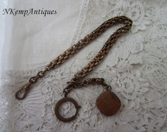 Antique watch chain and fob 1900