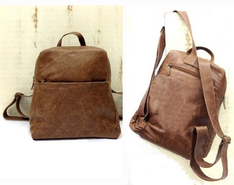 Sale!!!  Leather backpack laptop Brown leather backpak Women leather backpack men up to 15 15.6 distressed handmade leather bag!!