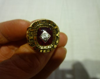 L87 Vintage R. Johns GP Marked Gold Plated All Star Ring.
