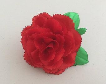 Carnation Flower Brooch.1