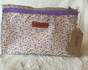 Makeup bag with floral design