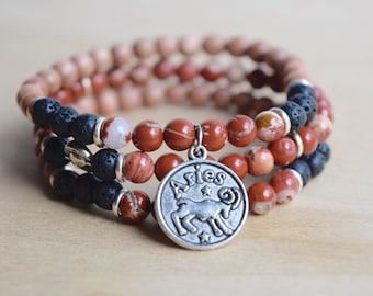 Aries Jewelry / womens zodiac gift, aries jewelry gift, astrology gift ideas, aries zodiac jewelry, zodiac gift aries, zodiac jewelry aries