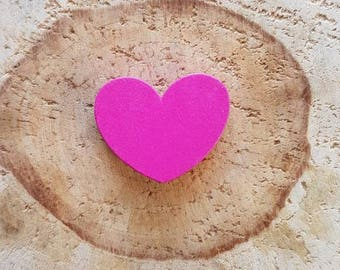 Pink Pearl Heart wood