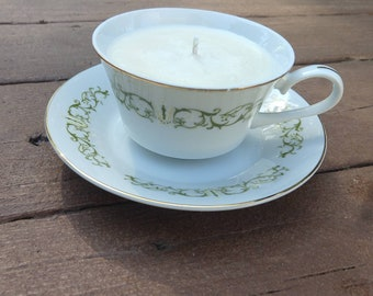 Bamboo & Coconut - Soy Wax Tea Cup Candle