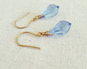 Blue Drop Earrings • Blue Dangle Earrings • Blue Glass Earrings • Blue Glass Drop Earrings • Blue Glass Dangle Earrings • Blue Earrings