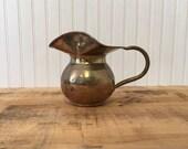 Vintage hammered Brass Pi...