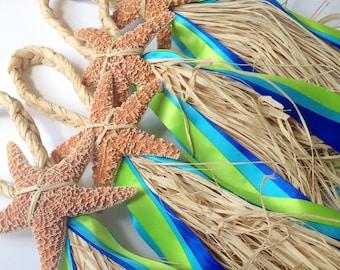 Starfish Aisle Markers, Chair Markers, Beach Wedding Decor