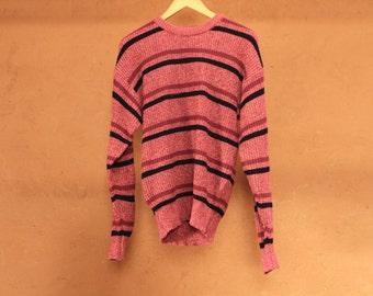 twin peaks vintage 90s simple STRIPED grunge SLOUCHY warm sweater