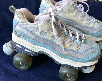 90s Sketches Sneaker Roller Skates Baby Blue