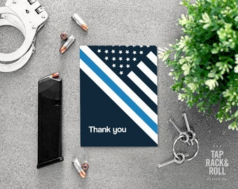 Thin Blue Line Thank You Card Printable