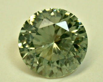 VINTAGE TOURMALINE Mint Green Gemstone Loose Faceted Round 3.25 cts fg186