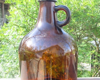 Little Brown Jug - Vintage Brown Glass Jug - Glass Container Corp. 1960s