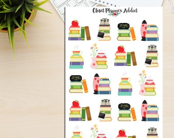 Books Planner Stickers | Bookworm | Currently Reading | Reading Stickers | Library Stickers | Study Stickers | College Stickers (S-068)
