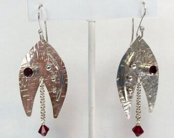 Sterling Silver Dangle Teardrop Earrings