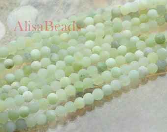 Natural New Jade,matte round,beads,6mm,15 inches