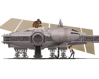 Millennium Falcon- Art Print