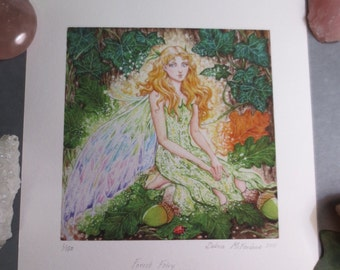 Forest Fairy Giclee Print, limited edition print,