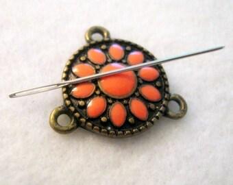 Recycled Needle Minder, Cross Stitch, Embroidery, Needlepoint, Needle Notion, Recycled Jewelry