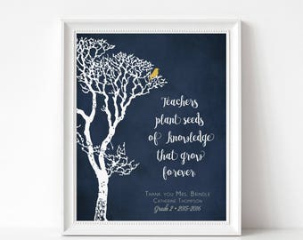 TEACHER Gift Print - Personalized Teacher Gift Print - End of School Year Appreciation Gift - Personalize with Name, Grade, Year