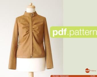 PDF sewing pattern Women Gathered Jacket -Marmalade- (size 34-46)
