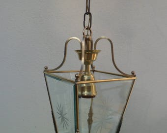 Manufacturing Bronze Lantern French circa 1960 & Bronze Lantern made in France circa 1960