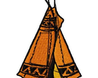 American Indian Tent Machine Embroidery Design, Instant Download, 4x4 Hoop, Various Formats