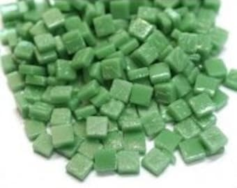 8mm Micro Mosaic Craft Tiles - Spearmint Green Matte - 50g / 1.75 oz (approx. 95 tiles)