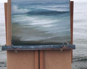 Original Plein Air Coastal Oil Painting from Lake Erie A Moment To Remember