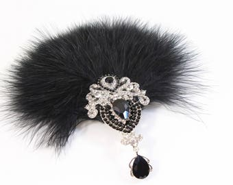 Gatsby 1920s Feather Hair Piece | 20s Fascinator 1920's hair clip Gatsby Feather Flapper Dress Hen Party Bachelorette party Gatsby Dress