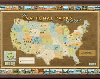 national parks travel map framed with pins push pin travel map national parks map