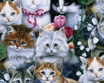 Cuddly kittens fleece blanket