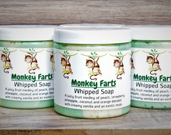 Monkey Farts Whipped Soap With Goat's Milk approx 8 oz