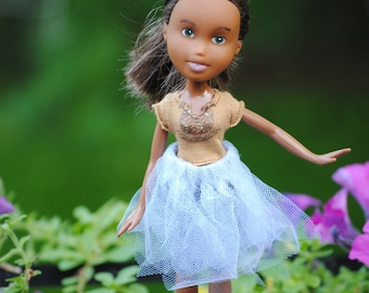 Repainted Bratz doll with fairy skirt
