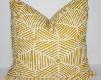 Decorative Pillow Cover Golden Rod Geometric Pillow Cover Throw Pillow Cover Choose Size