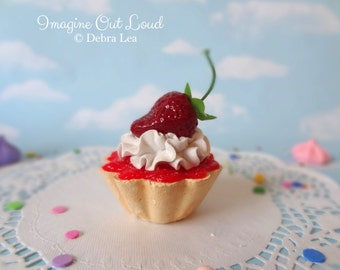 Fake Cake Tart Tartelette Mini Dessert Strawberry Shortcake Cream  SINGLE