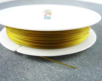 1 reel 50 m cable color steel wire 0.45 mm (fil41) Gold