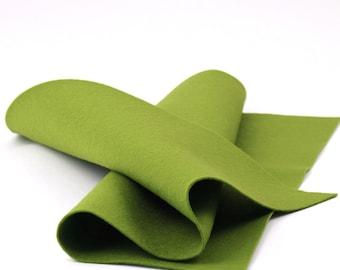 """100% Wool Felt Sheet in Color WILLOW - 18"""" X 18"""" Wool Felt Sheet - Merino Wool Felt - European Wool Felt"""