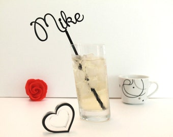 Personalised Cocktail Drink Stirrer Drink Stir Sticks Beach Cocktail Stick  Wedding Table Decoration Birthday Cocktail Martini