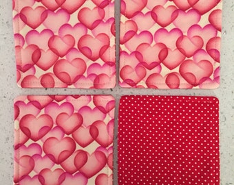 Drink Coasters - Set of 4 - Hearts