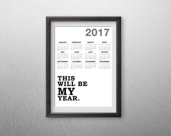 2017 Printable Calendar (one page)