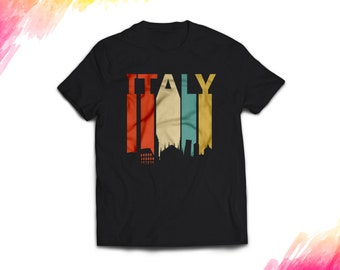 Italy Shirt women men, Vintage style Italy Gift T shirt, Retro Italy T shirt, 1970s Italy tshirt souvenir, tee shirt #1687