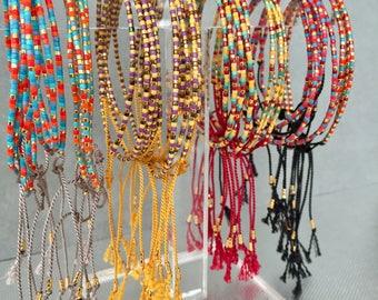 Santa Ana single and double wrap bracelets
