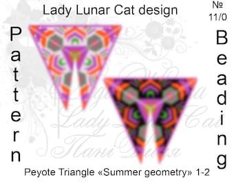 Peyote triangle patterns, Colorful peyote, Beading pattern, African peyote, Summer peyote, Abstract peyote, Geometry peyote, Delica patterns