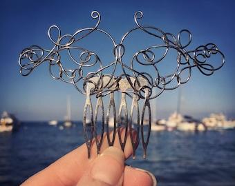 Silver Wire Hair Comb, Hair Jewelry, Hair Accessories, Hair Fork, Hair Pin, Hair Clip