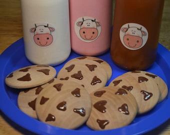 Chocolate Chip Cookies Play Food Wood Toy
