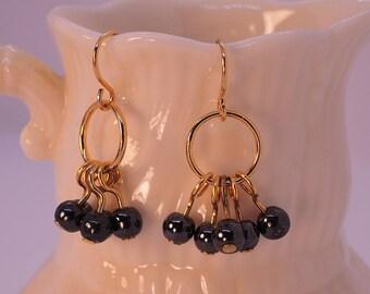 The Bibury Earrings in Hemitite