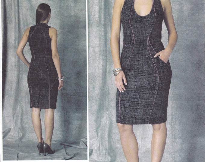 FREE US SHIP Sewing Pattern Vogue 1469 Sexy Seamed Wiggle Dress Inset Arms Lialia  New Size 4/12 12/20 Bust 29 30 31 32 34 36 38 40 42New